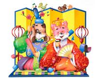 犬と猫のひな祭り