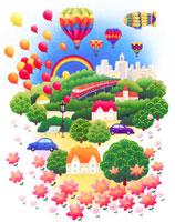 気球のある花とみどりの住まいのくらし