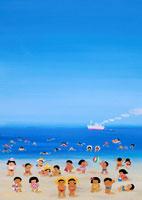 海水浴 02237003858| 写真素材・ストックフォト・画像・イラスト素材|アマナイメージズ
