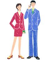 仕事中の若い男女 02237004029| 写真素材・ストックフォト・画像・イラスト素材|アマナイメージズ
