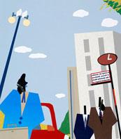 ビジネスシーン 街角のビジネスマンたち 02237004067| 写真素材・ストックフォト・画像・イラスト素材|アマナイメージズ