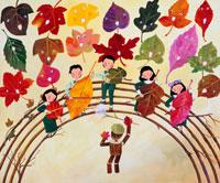 落葉のコーラス隊と少年少女森の音楽会