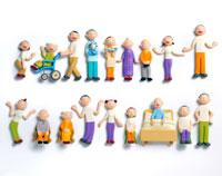おじいちゃんとおばあちゃんと介護士達