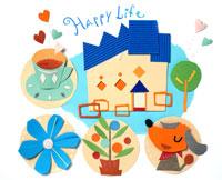 青い屋根の家と犬とお茶とエンジョイ生活