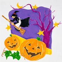 ハロウィンと魔女 02237006258| 写真素材・ストックフォト・画像・イラスト素材|アマナイメージズ