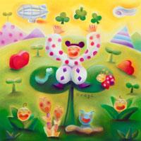 春の花々と夢いっぱいのパステル世界 02237006474| 写真素材・ストックフォト・画像・イラスト素材|アマナイメージズ