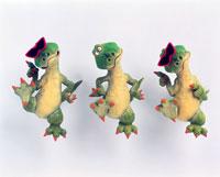 立体 サングラスと恐竜×3