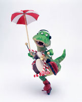 立体 ちんどん恐竜A 1