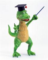 立体 指示棒で教える恐竜の先生