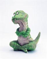 立体 あぐらをかいて考える恐竜 1