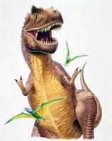 ティラノサウルスとディモルフォドン