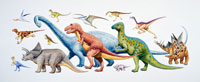 恐竜 集団 トリケラトプス他