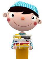 洗濯物の入ったカゴを持つ女性 02237007840| 写真素材・ストックフォト・画像・イラスト素材|アマナイメージズ