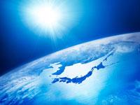 太陽と青い地球イメージ9