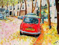 パリ・秋のジュノー通り 02237010205| 写真素材・ストックフォト・画像・イラスト素材|アマナイメージズ
