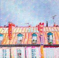 パリの雪の朝