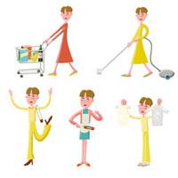 家事をする若い奥さん 02237010538| 写真素材・ストックフォト・画像・イラスト素材|アマナイメージズ