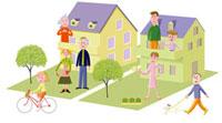 生活を楽しむ家族