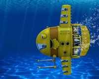 マンボウ潜水艇の海底調査 背景付