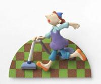 掃除機をかけるお母さん 02237012251| 写真素材・ストックフォト・画像・イラスト素材|アマナイメージズ