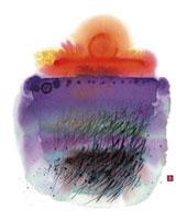 川のほとり 秋の夕日 02237012389| 写真素材・ストックフォト・画像・イラスト素材|アマナイメージズ