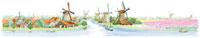 風景水彩画 オランダのイメージ