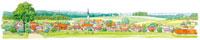 風景水彩画 フランス郊外のイメージ