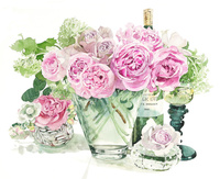 薔薇とワイン 02237013175| 写真素材・ストックフォト・画像・イラスト素材|アマナイメージズ