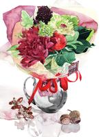 秋の花のブーケ・花束 02237013529| 写真素材・ストックフォト・画像・イラスト素材|アマナイメージズ