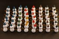 整列する雪だるま 02240000065| 写真素材・ストックフォト・画像・イラスト素材|アマナイメージズ