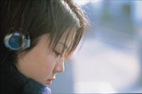 日本人女性の横顔 アップ