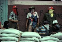 顔を隠したゲリラたち  ニカラグア 1981