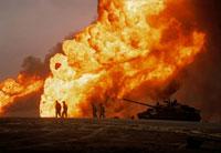 湾岸戦争、燃える油田   クウェート 1991