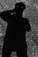 芝生に映る人影 B/W 1991年 アイルランド