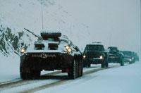 雪道を走る戦車 1989年 アフガニスタン