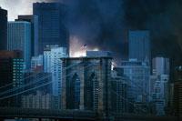 黒煙とビル群 2001年9月11日 アメリカ 02265005706| 写真素材・ストックフォト・画像・イラスト素材|アマナイメージズ