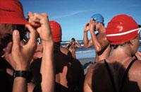 スイムキャップをした人 フロリダ アメリカ 1987年