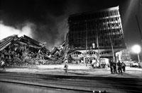 世界貿易センター倒壊跡 B/W 2001年 ニューヨーク 02265010765| 写真素材・ストックフォト・画像・イラスト素材|アマナイメージズ