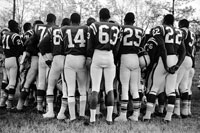 ブラック・フットボールチーム 1963年 アメリカ