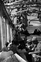 六日間戦争とアラブ難民たち B/W 1967年