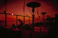 日没のサンタモニカ海岸 サンセット大通り ロサンジェルス 02265013363| 写真素材・ストックフォト・画像・イラスト素材|アマナイメージズ