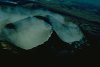エトナ山の噴火している火口 シシリー島 イタリア