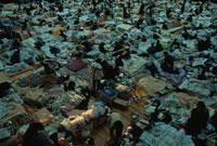 地震の被災地の臨時避難所 神戸
