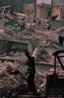 地震災害地のミロのヴィーナス像 メキシコ