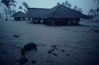 洪水で浸水した民家 ジャバ 02265022267| 写真素材・ストックフォト・画像・イラスト素材|アマナイメージズ