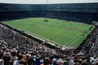 試合の観客 サン・シーロ・サッカー場 ミラノ イタリア