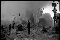 テロ後のワールドトレードセンター