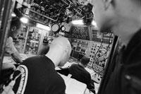 潜水艦のコントロールパネル