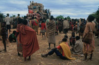 難民キャンプに到着した荷物、ソマリア