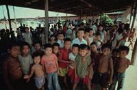 カンボジア難民キャンプの子供達、タイ